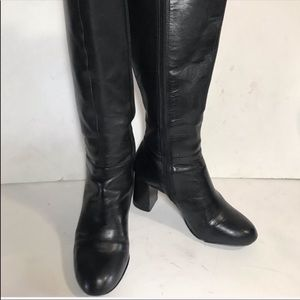 Nine West Leather Black Boots sz 7
